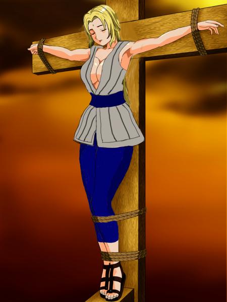火影忍者纲手邪恶h漫画 火影居然被绑十字架