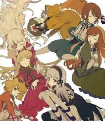 日式黑暗风格插画图片,插画师しきみ的黑童话作品组图15