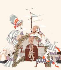 日式黑暗风格插画图片,插画师しきみ的黑童话作品组图9