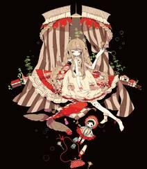 日式黑暗风格插画图片,插画师しきみ的黑童话作品组图2