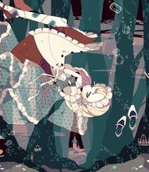 日式黑暗风格插画图片,插画师しきみ的黑童话作品组图8