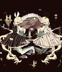 日式黑暗风格插画图片,插画师しきみ的黑童话作品组图5