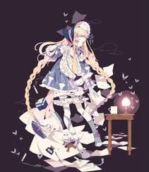 日式黑暗风格插画图片,插画师しきみ的黑童话作品组图13