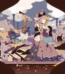 日式黑暗风格插画图片,插画师しきみ的黑童话作品组图6
