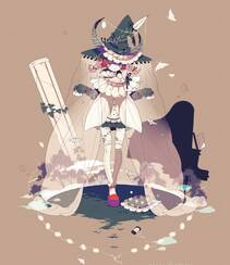日式黑暗风格插画图片,插画师しきみ的黑童话作品组图4
